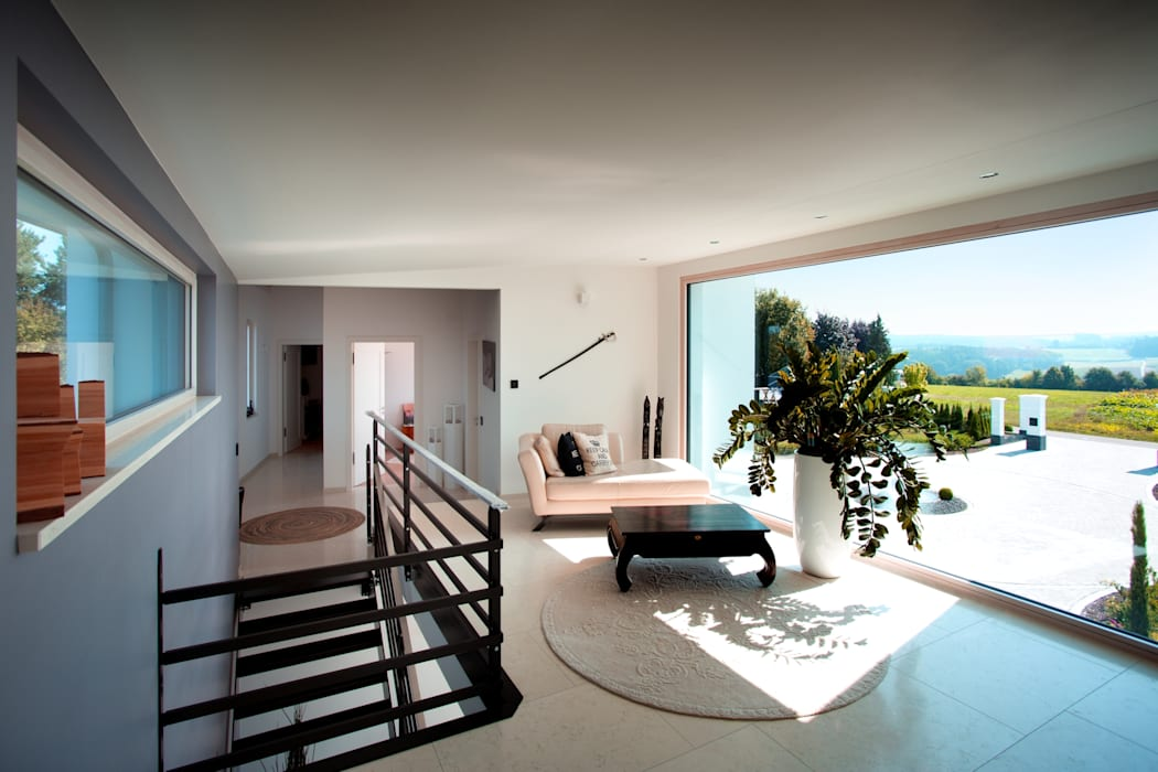Panoramafenster mit Ausblick: Festverglasungen liegen im Trend Moderne Fenster & Türen von Kneer GmbH, Fenster und Türen Modern