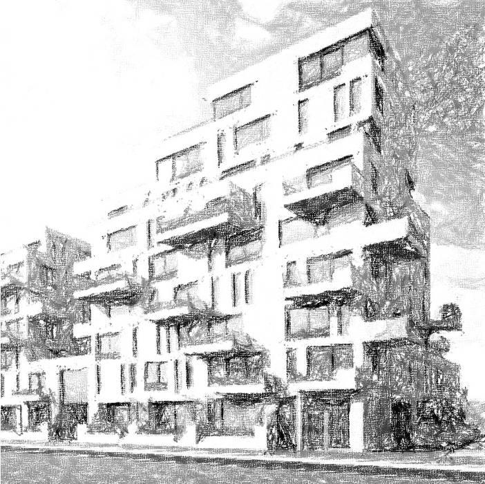 Zeeburgereiland Project - COMPLETION JAN 2021 Moderne huizen van Romain Dossou Interiors Modern