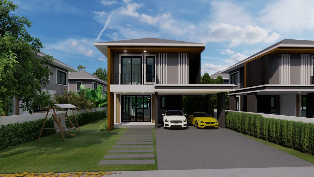 No.13 Design Rumah Gaya Eklektik