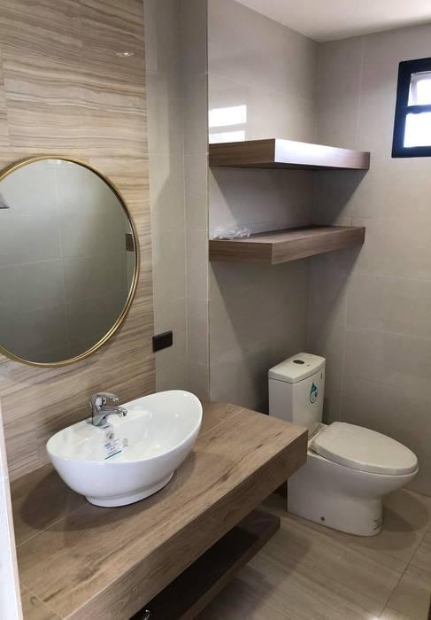 Countryside Charm Rustic style bathroom by Geraldine Oliva Rustic
