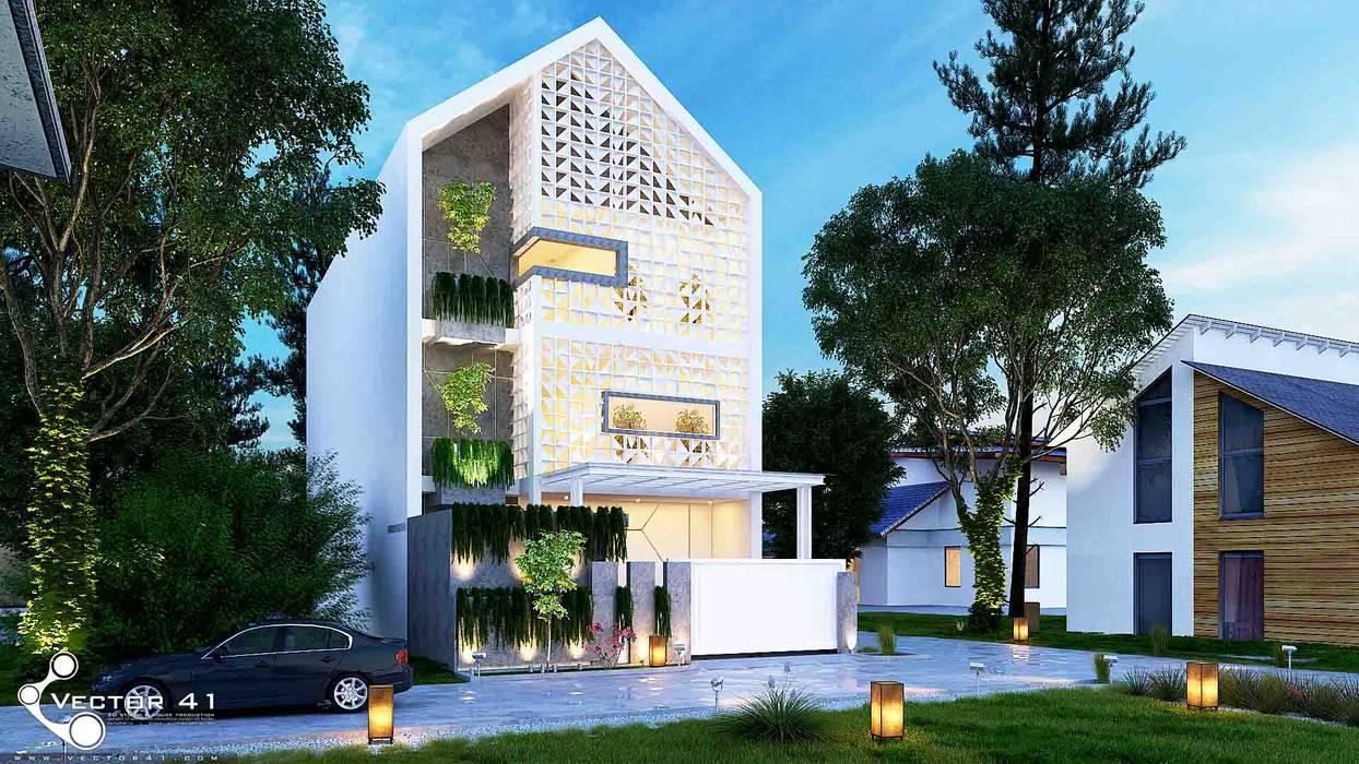 Desain Rumah Rustic_Medan (Ibu Nouling) VECTOR41 Atap gable