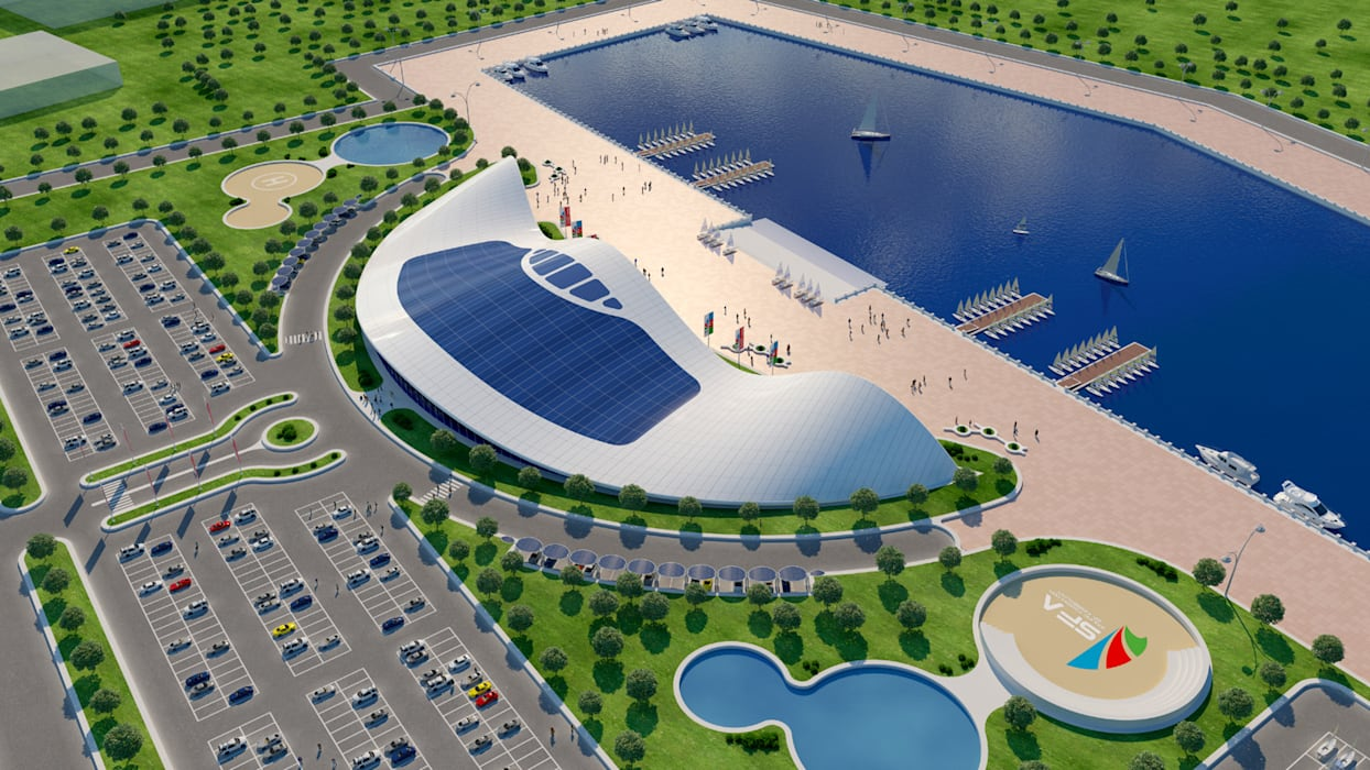 Shell by Giancarlo Zema for Sailing Federation of Azerbaijan Giancarlo Zema Design Group Case moderne