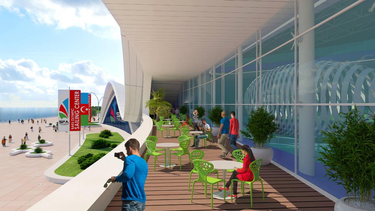 Shell by Giancarlo Zema for Sailing Federation of Azerbaijan Case moderne di Giancarlo Zema Design Group Moderno