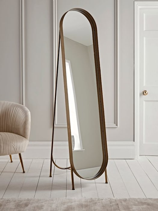 Space management with Mirror in designers style Designers Gang Modern Walls and Floors