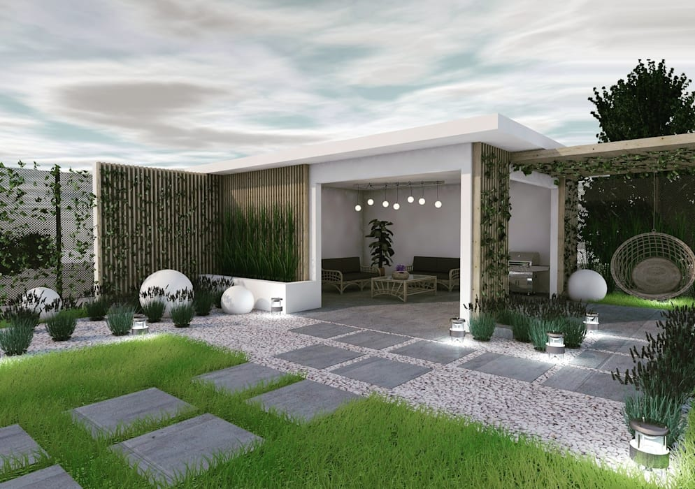 Garden Design od AUMÜLLERDESIGN Minimalistyczny Beton