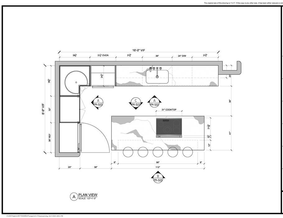 NYrender design drawings NYrender.NYC Dapur built in
