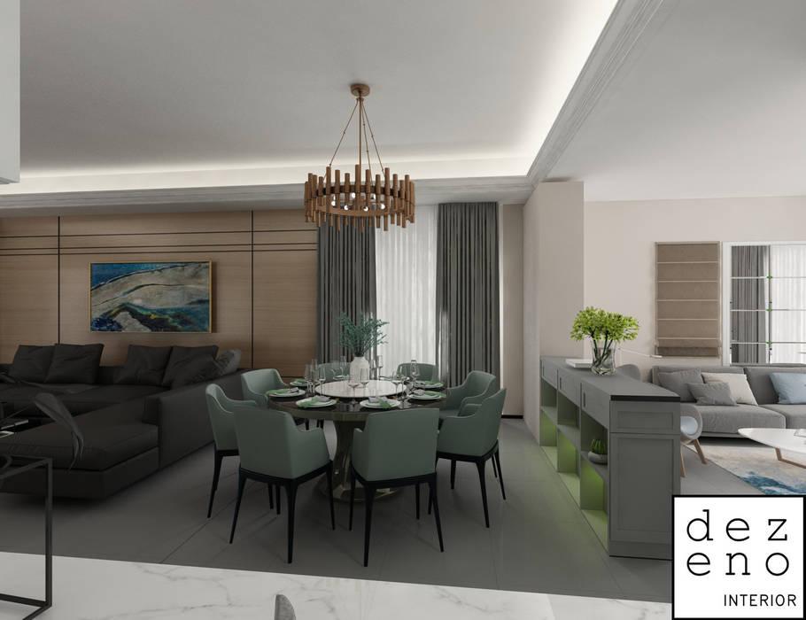 DINING AREA Dezeno Sdn Bhd Modern Dining Room Grey