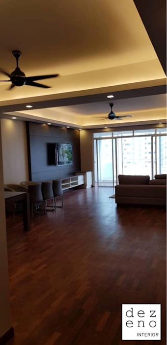 LIVING ROOM Dezeno Sdn Bhd Living room Brown