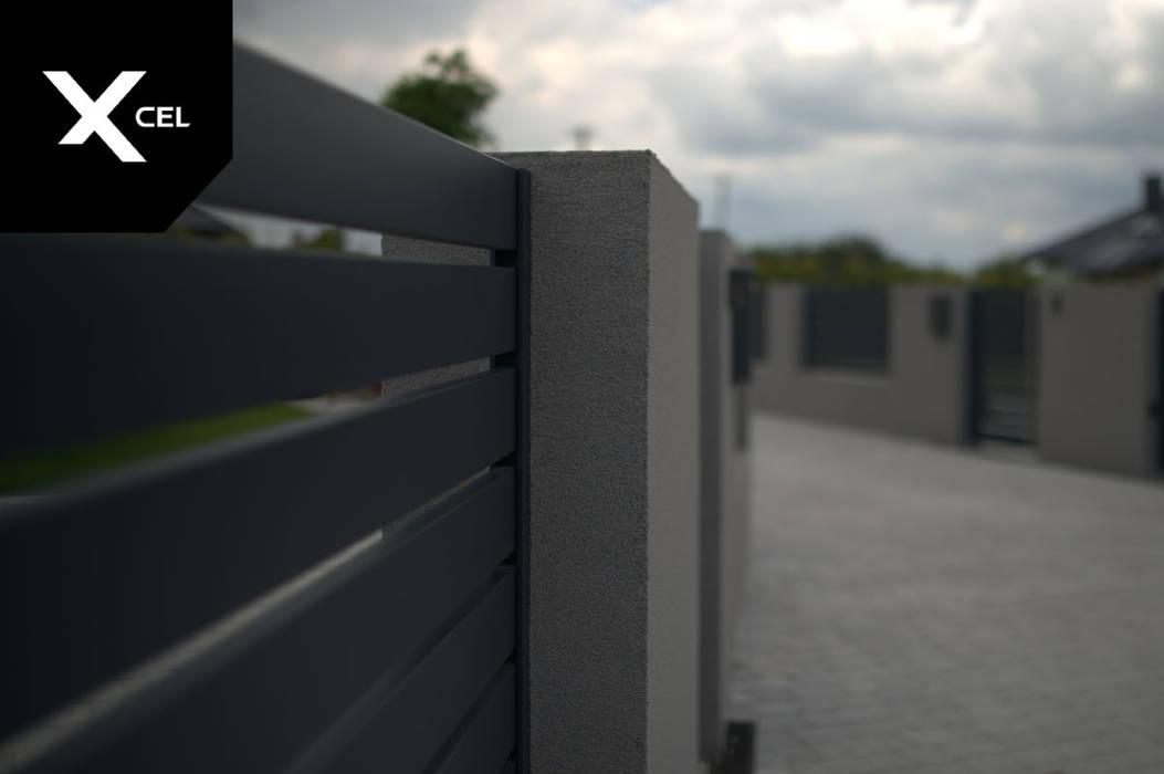 Grafitowe ogrodzenie aluminiowe XCEL Fence Podwórko
