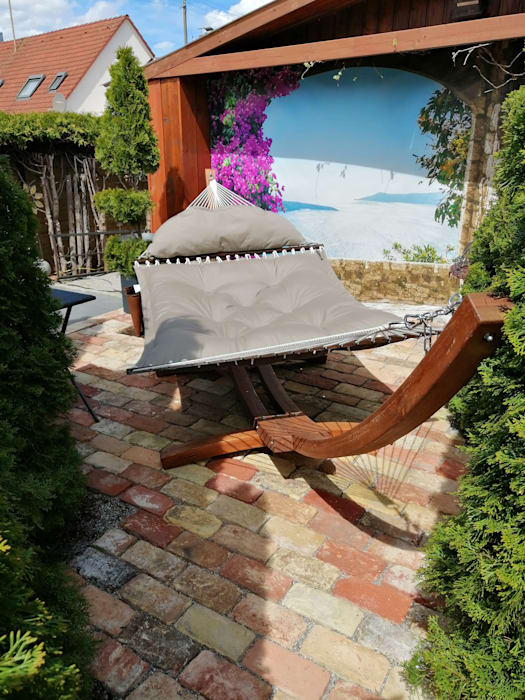 Hier Lässt sich es Gemütlich Sonnen Natura Garten und Landschaftsbau UG Vorgarten Beton Beige