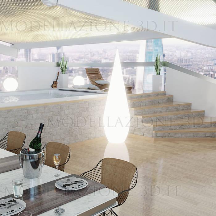 Alessandro Chessa Balcon, Veranda & Terrasse modernes