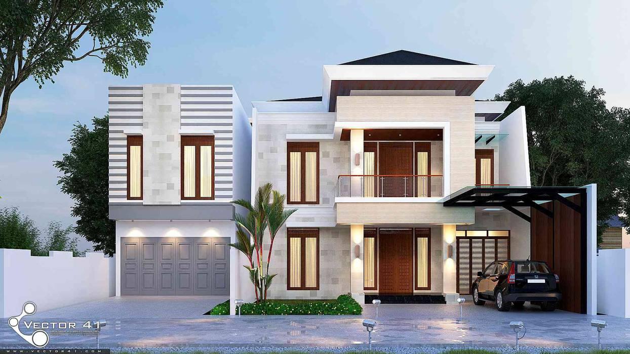 Exterior House_Medan (Mr. Andi) VECTOR41 Rumah tinggal