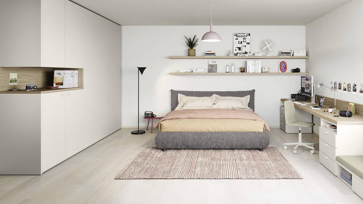 Camera ragazzi con letto matrimoniale TopArredi Camera da letto moderna Legno composito