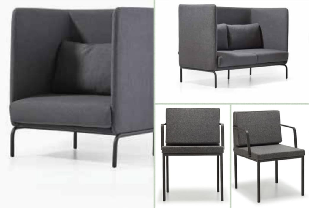 Sofa, armchair, and chairs with modesty panel SG International Trade Geschäftsräume & Stores