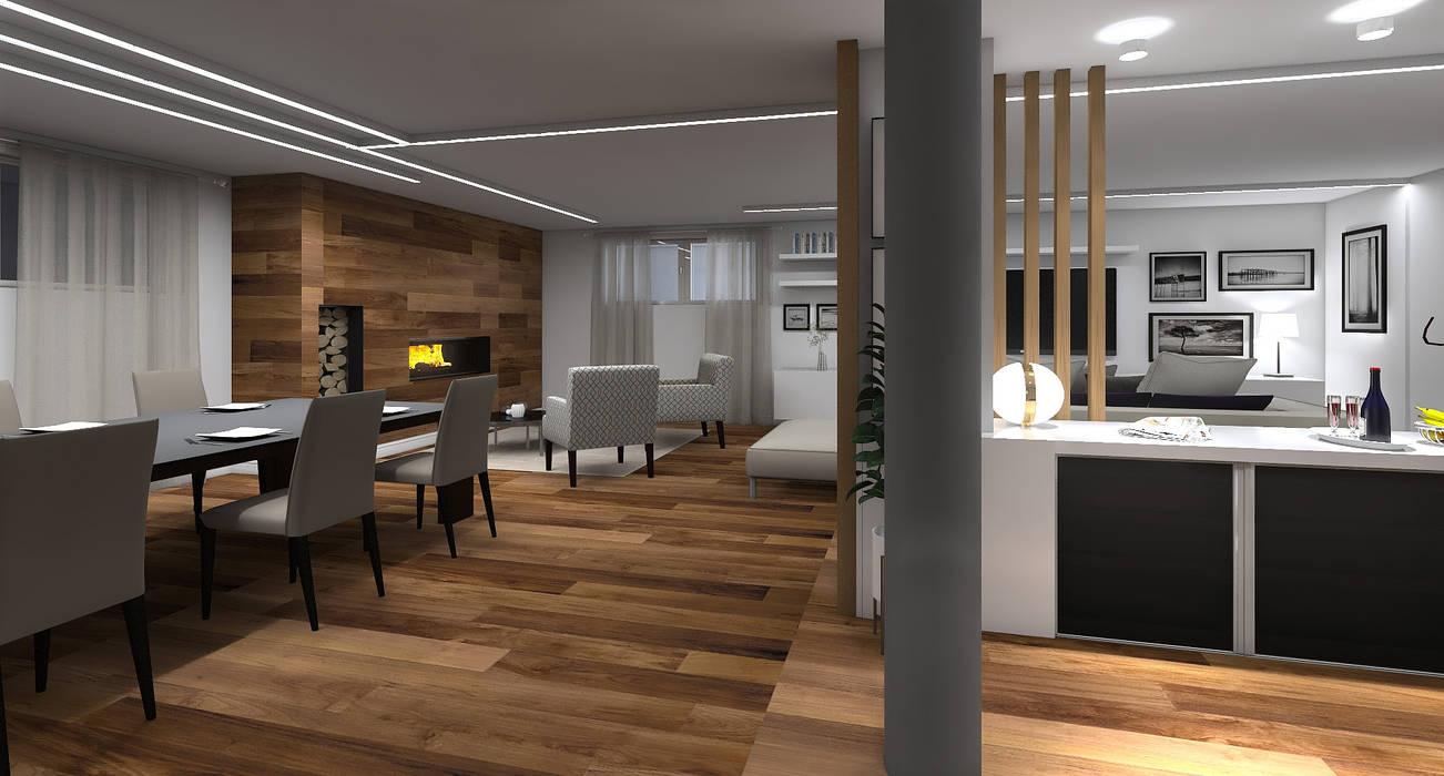 Restyling Taverna Pisa mt design Cantina minimalista