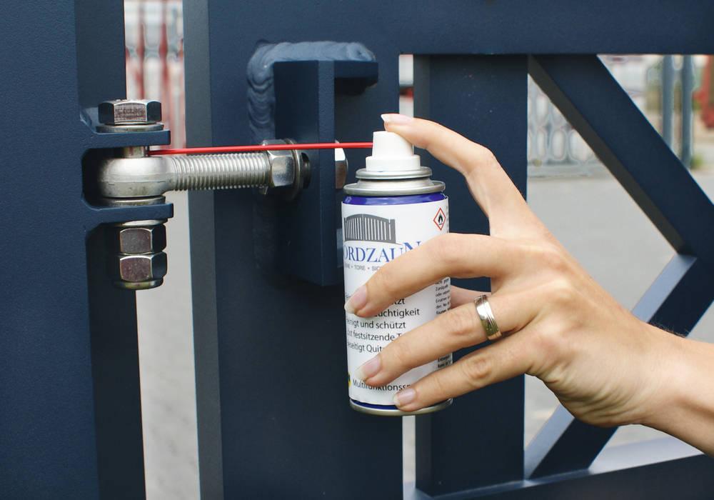 Modell Fehmarn - Toraufhängung Nordzaun GartenZäune und Sichtschutzwände Aluminium/Zink Blau