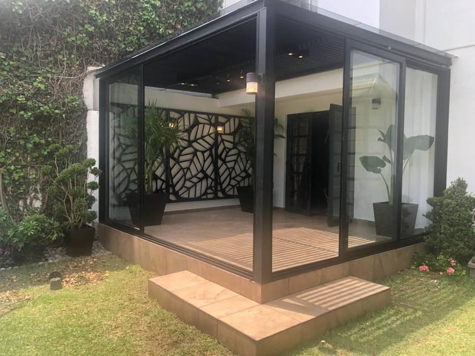 Merkalum Garden Shed Aluminium/Zinc Black