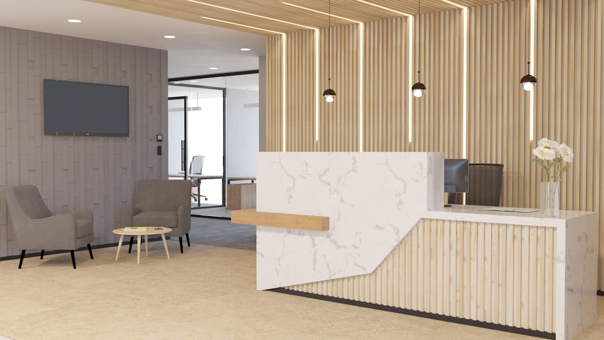4 + Arquitectura Offices & stores Wood Wood effect