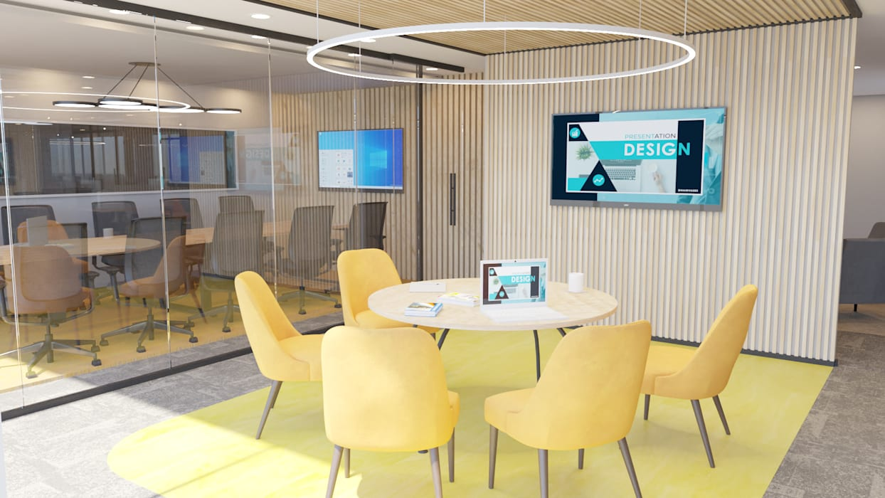 4 + Arquitectura Offices & stores Bamboo Yellow