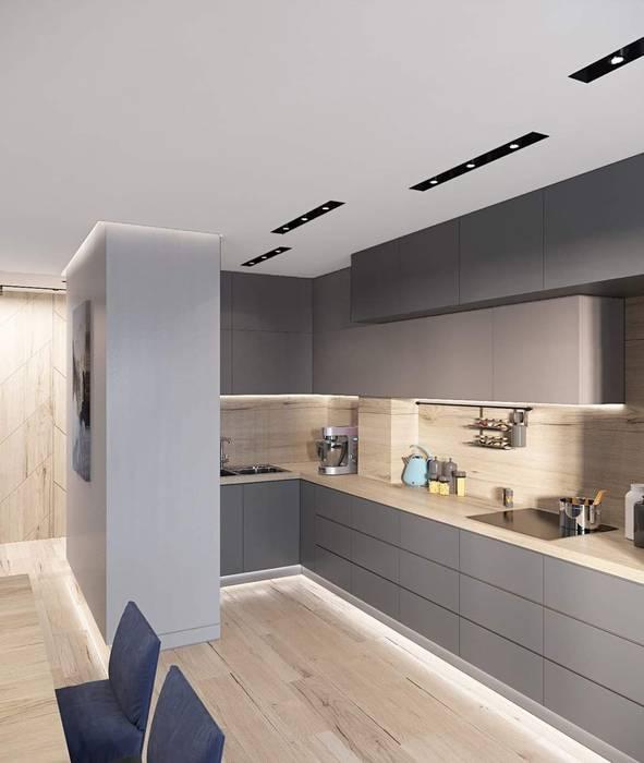 Kitchen HC Designs Balconies, verandas & terracesAccessories & decoration Wood White