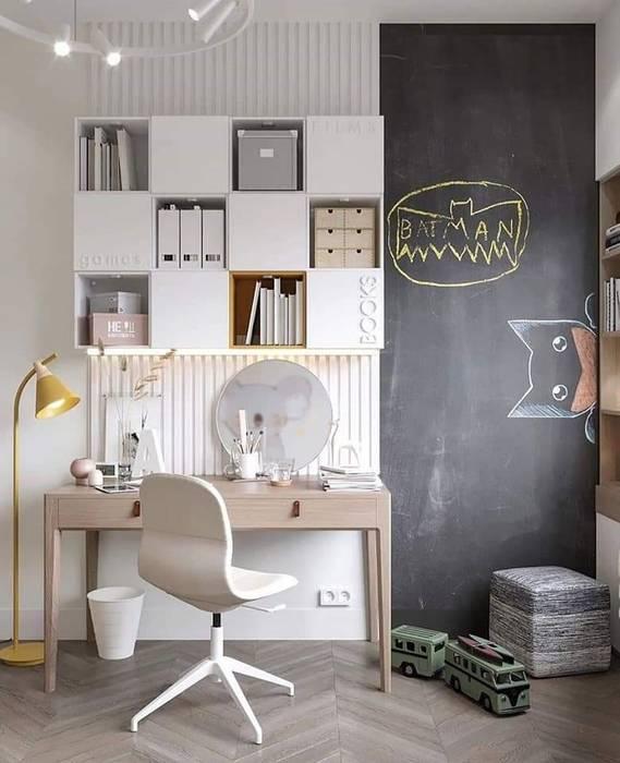 Kids Study Area HC Designs Nursery/kid's roomBeds & cribs Wood White