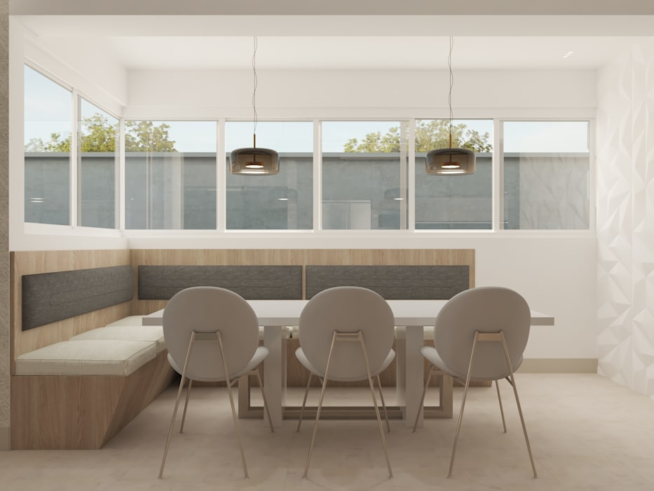Cocina de concepto abierto Diaf design Comedores de estilo moderno