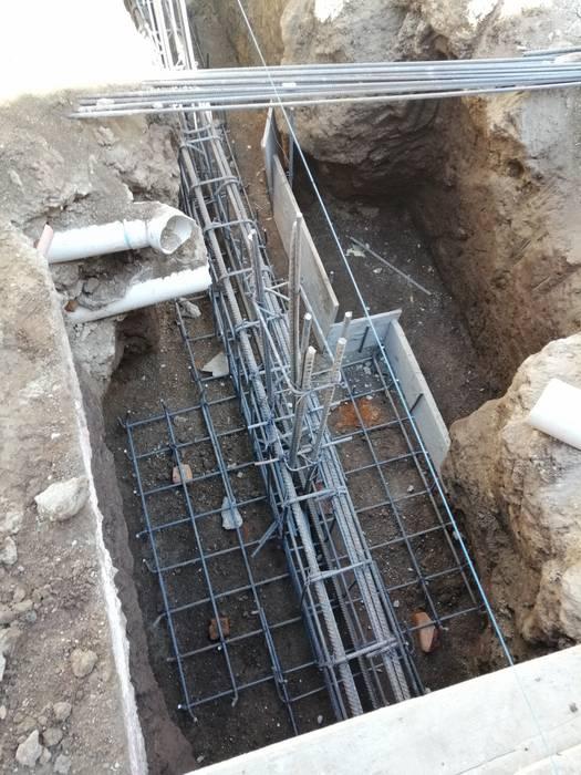 Contratrabe y zapatas en cimentacion Forfun Arquitectura Pisos
