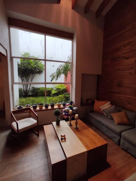 G._ALARQ + TAGA Arquitectos Ruang Keluarga Modern