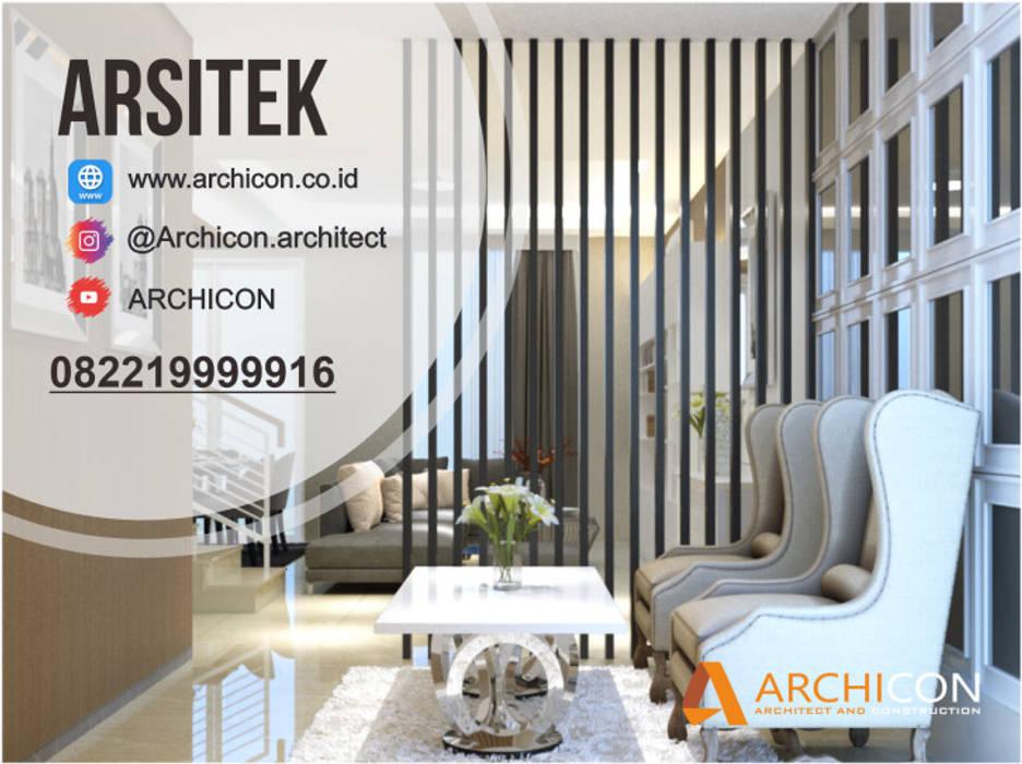 Jasa Arsitek Bandung| Jasa Desain Rumah Bandung | Jasa Desain Interior Bandung | Kota Bandung | Jasa kontraktor Bandung Jasa Arsitek Archicon Balkon, Beranda & Teras Minimalis Keramik Grey