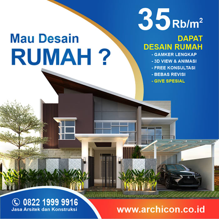 Jasa Arsitek Bandung| Jasa Desain Rumah Bandung | Jasa Desain Interior Bandung | Kota Bandung | Jasa kontraktor Bandung Jasa Arsitek Archicon Kolam renang halaman Batu Pasir Metallic/Silver