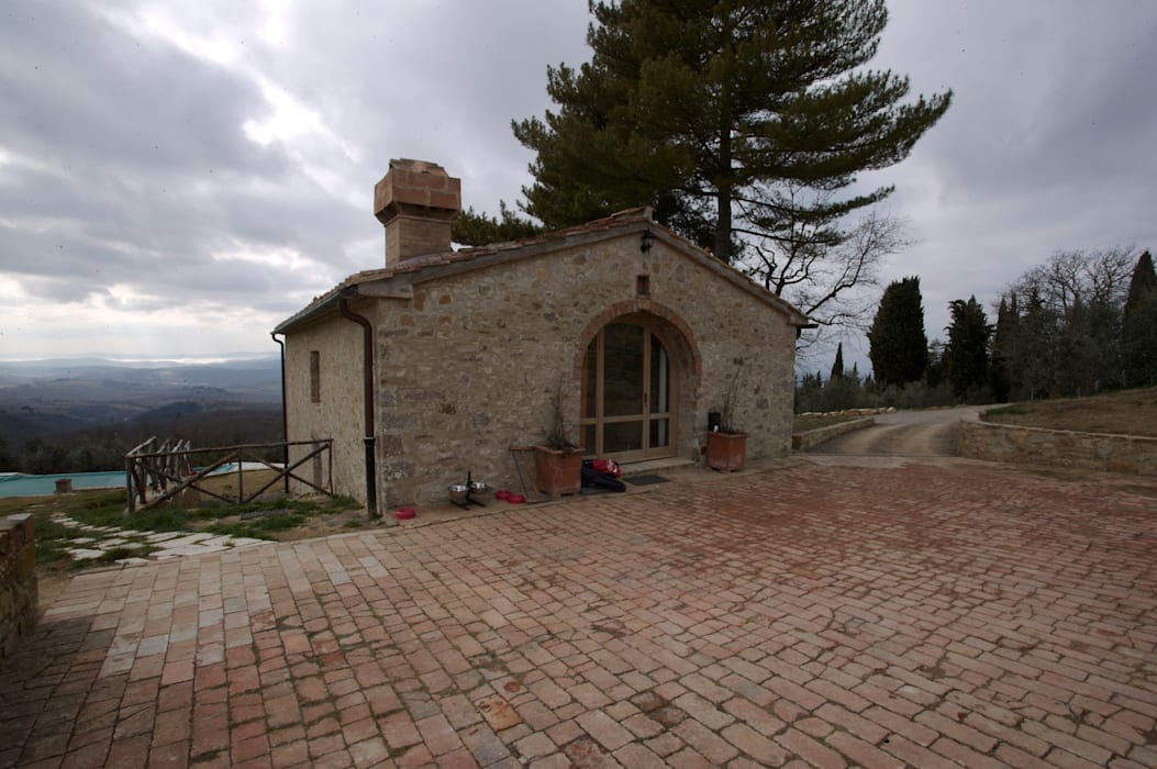 Restauro di una colonica in Chianti Studio Architetto Pontello Casa piccola