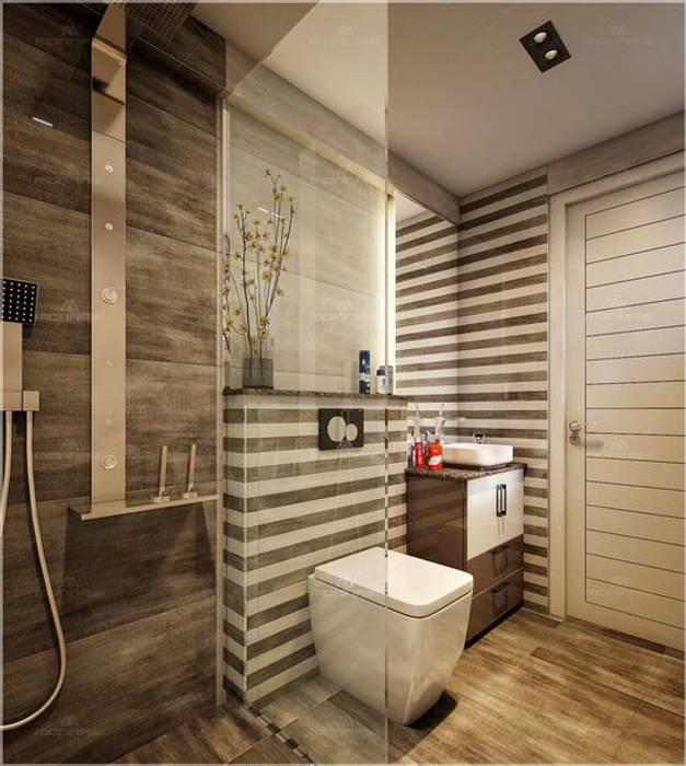 Bathroom designs Premdas Krishna BathroomDecoration Wood Wood effect
