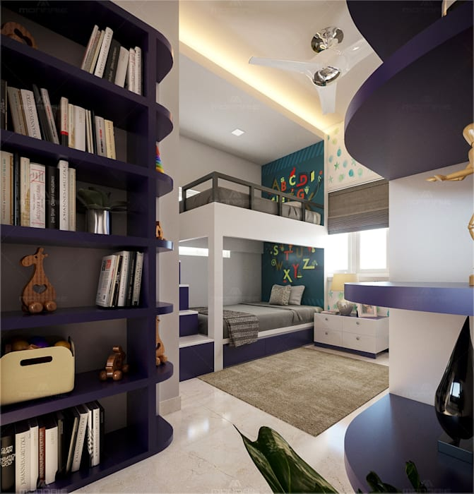 Kids Bedroom design Premdas Krishna Nursery/kid's roomAccessories & decoration Wood Wood effect