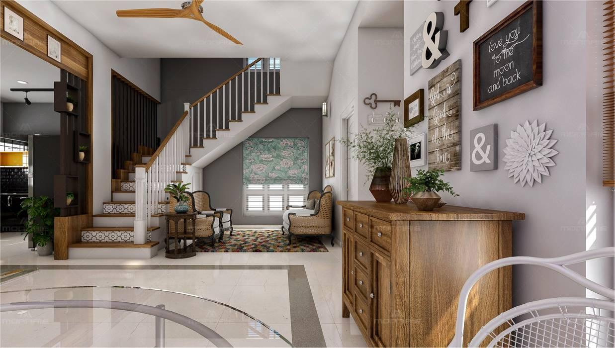 Stair & Living room Premdas Krishna Living roomAccessories & decoration Wood Wood effect