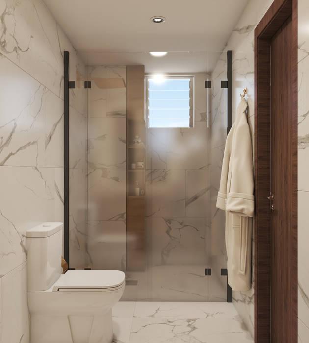 Proyecto La Guaira Diaf design Baños de estilo moderno