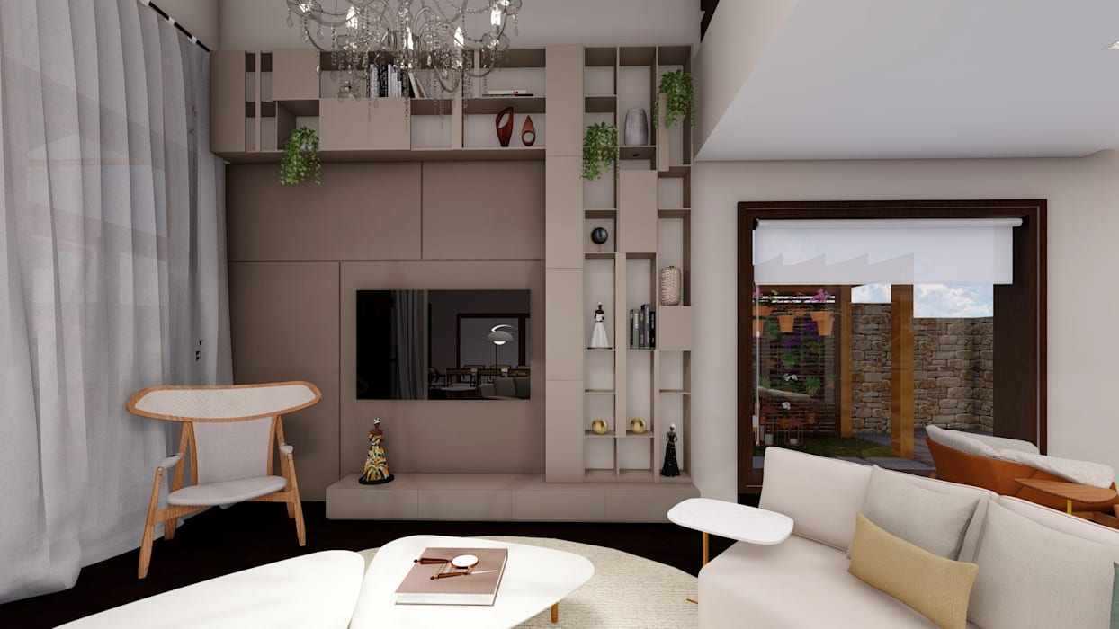 Studio Ideação Ruang Keluarga Modern