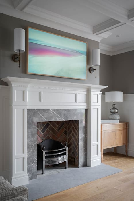Traditional Architecture & Interiors Hackett Visuals Classic style living room