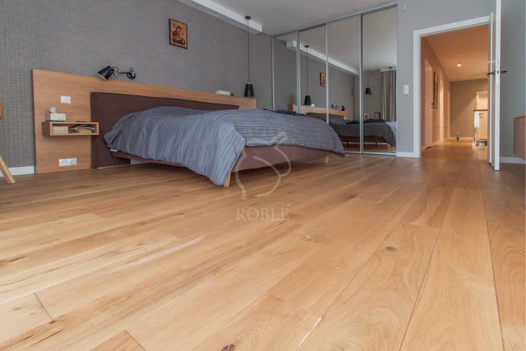 Podłoga drewniana w sypialni Roble Podłogi