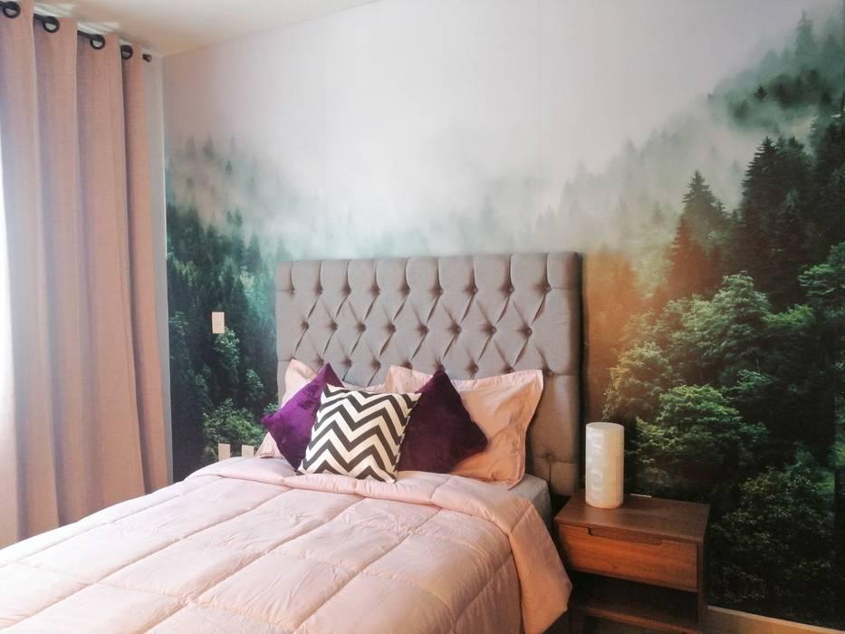 CONCEPTO JORU Scandinavian style bedroom Multicolored