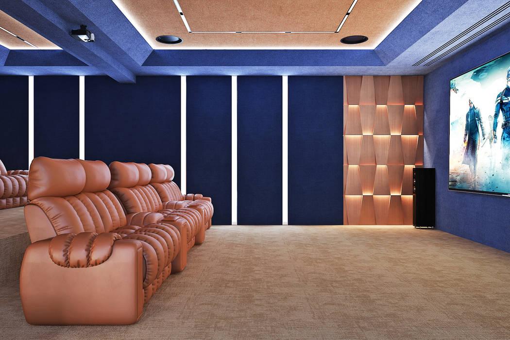 Студия дизайна ROMANIUK DESIGN Minimalist media room