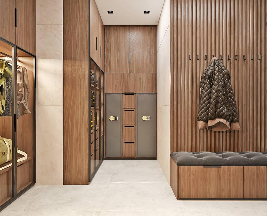 Студия дизайна ROMANIUK DESIGN Minimalist dressing room
