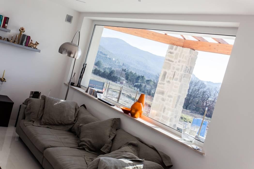 Finestra vetrata panoramica FAPI SERRAMENTI Finestre in legno Legno