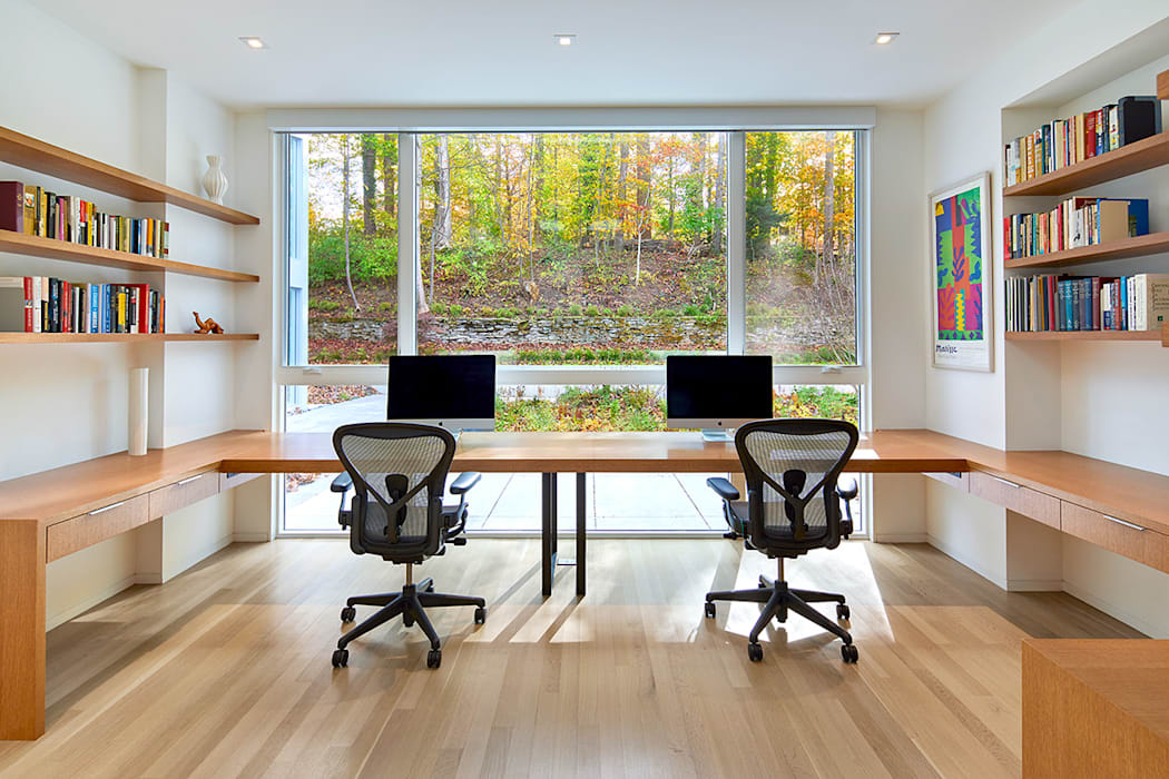 Modern Nest KUBE architecture Modern Study Room and Home Office