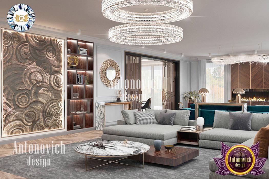 MODERN APARTMENT INTERIOR DESIGN BY LUXURY ANTONOVICH DESIGN Luxury Antonovich Design Modern living room