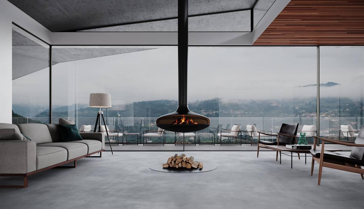 Hotel Vinico do Douro - MJARC Arquitectos MJARC - Arquitetos Associados, lda Salas de estar rústicas