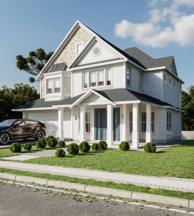 Casa em estilo americano Nesta Espaços Extraordinários Casas familiares