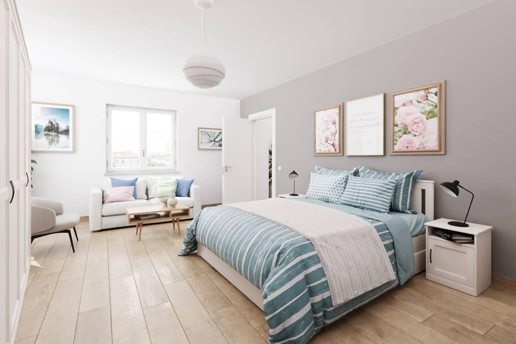 InstantRender Rustic style bedroom