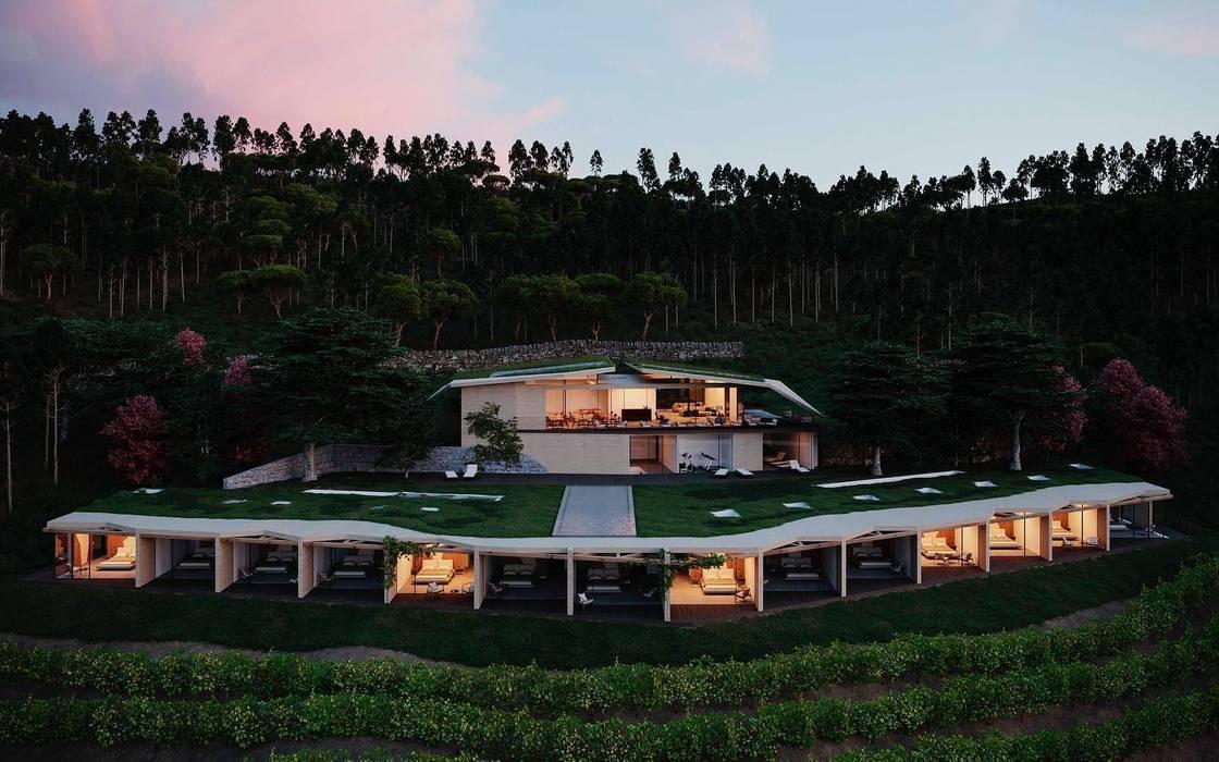 Projeto arquitetura - Hotel vinico no douro MJARC - Arquitetos Associados, lda