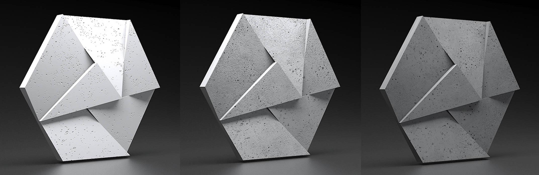 ZICARO - producent paneli 3D i paneli ażurowych Study/officeStorage Pottery Grey