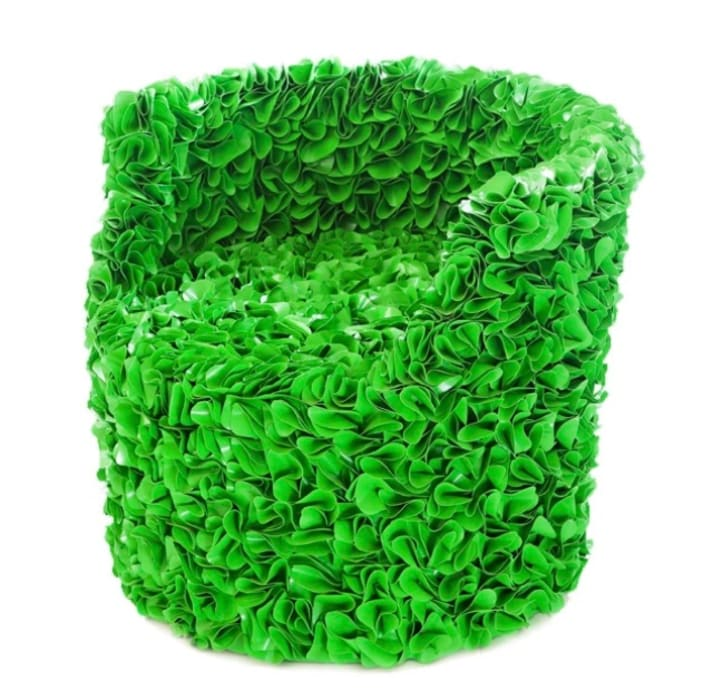 13RiCrea Front yard Wood-Plastic Composite Multicolored